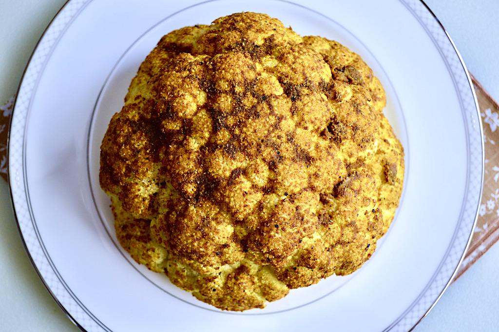Curry Whole Roasted Cauliflower