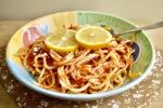 Heirloom Tomato, Basil, and Lemon Spaghetti